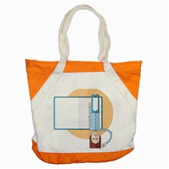 Presentation Girl Woman Hovering Accent Tote Bag