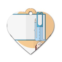 Presentation Girl Woman Hovering Dog Tag Heart (Two Sides)