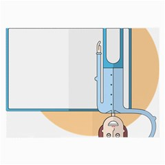 Presentation Girl Woman Hovering Large Glasses Cloth (2-Side)