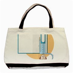 Presentation Girl Woman Hovering Basic Tote Bag (Two Sides)