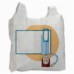 Presentation Girl Woman Hovering Recycle Bag (One Side)
