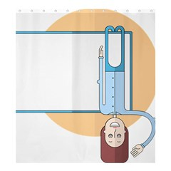 Presentation Girl Woman Hovering Shower Curtain 66  x 72  (Large)