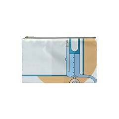 Presentation Girl Woman Hovering Cosmetic Bag (Small)