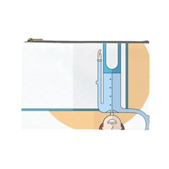 Presentation Girl Woman Hovering Cosmetic Bag (Large)