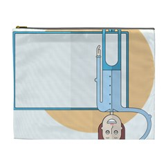 Presentation Girl Woman Hovering Cosmetic Bag (XL)