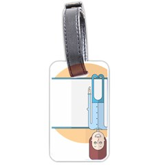 Presentation Girl Woman Hovering Luggage Tags (One Side)