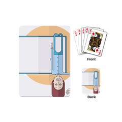 Presentation Girl Woman Hovering Playing Cards (Mini)