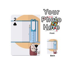 Presentation Girl Woman Hovering Playing Cards 54 (Mini)