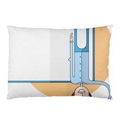 Presentation Girl Woman Hovering Pillow Case (Two Sides)