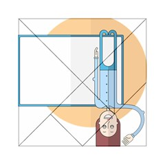 Presentation Girl Woman Hovering Acrylic Tangram Puzzle (6  x 6 )