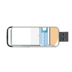 Presentation Girl Woman Hovering Portable USB Flash (Two Sides)