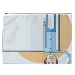 Presentation Girl Woman Hovering Cosmetic Bag (XXL)