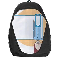 Presentation Girl Woman Hovering Backpack Bag