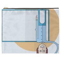 Presentation Girl Woman Hovering Cosmetic Bag (XXXL)