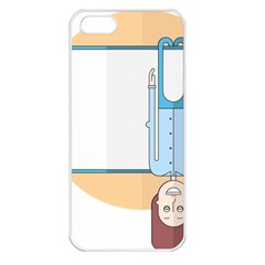 Presentation Girl Woman Hovering Apple iPhone 5 Seamless Case (White)