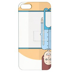 Presentation Girl Woman Hovering Apple iPhone 5 Hardshell Case with Stand