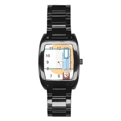 Presentation Girl Woman Hovering Stainless Steel Barrel Watch