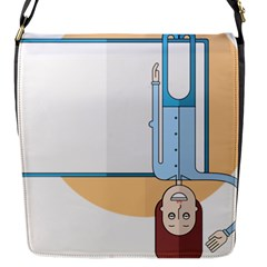 Presentation Girl Woman Hovering Flap Messenger Bag (S)