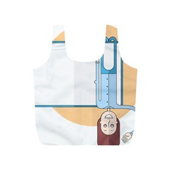 Presentation Girl Woman Hovering Full Print Recycle Bags (S)