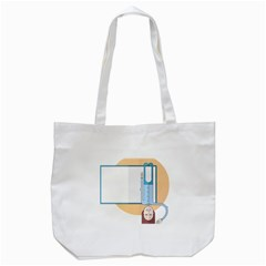 Presentation Girl Woman Hovering Tote Bag (White)