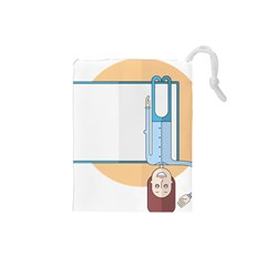 Presentation Girl Woman Hovering Drawstring Pouches (Small)