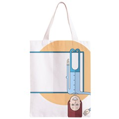 Presentation Girl Woman Hovering Classic Light Tote Bag