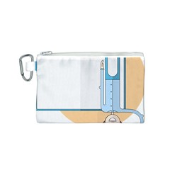 Presentation Girl Woman Hovering Canvas Cosmetic Bag (S)