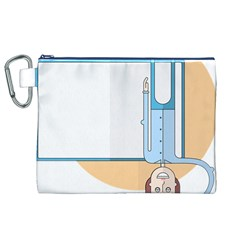Presentation Girl Woman Hovering Canvas Cosmetic Bag (XL)