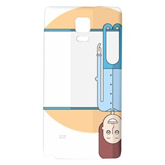 Presentation Girl Woman Hovering Galaxy Note 4 Back Case