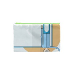 Presentation Girl Woman Hovering Cosmetic Bag (XS)