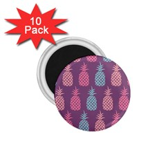 Pineapple Pattern 1.75  Magnets (10 pack)