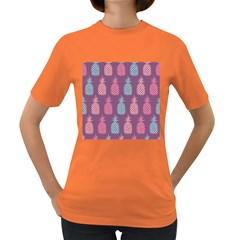 Pineapple Pattern Women s Dark T-Shirt