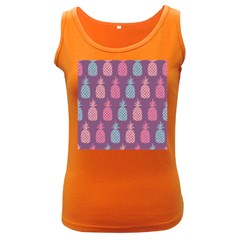 Pineapple Pattern Women s Dark Tank Top