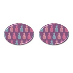 Pineapple Pattern Cufflinks (Oval)