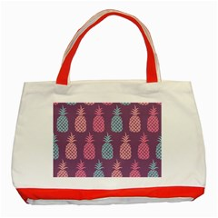 Pineapple Pattern Classic Tote Bag (Red)