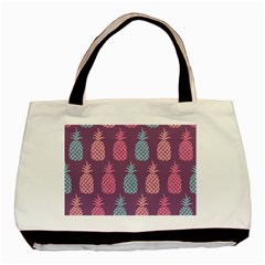 Pineapple Pattern Basic Tote Bag (Two Sides)