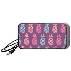 Pineapple Pattern Portable Speaker (Black)