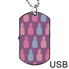 Pineapple Pattern Dog Tag USB Flash (Two Sides)