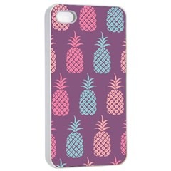Pineapple Pattern Apple iPhone 4/4s Seamless Case (White)