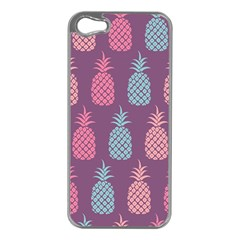 Pineapple Pattern Apple iPhone 5 Case (Silver)