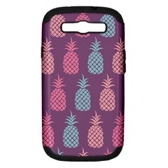 Pineapple Pattern Samsung Galaxy S III Hardshell Case (PC+Silicone)