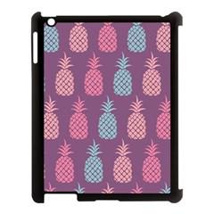 Pineapple Pattern Apple iPad 3/4 Case (Black)