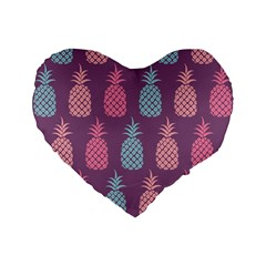Pineapple Pattern Standard 16  Premium Heart Shape Cushions