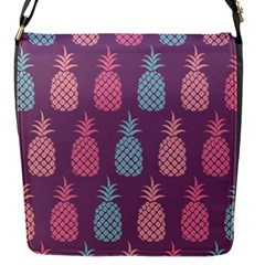 Pineapple Pattern Flap Messenger Bag (S)