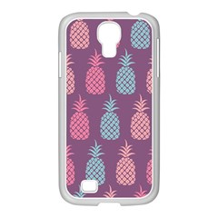 Pineapple Pattern Samsung GALAXY S4 I9500/ I9505 Case (White)