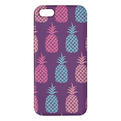 Pineapple Pattern iPhone 5S/ SE Premium Hardshell Case