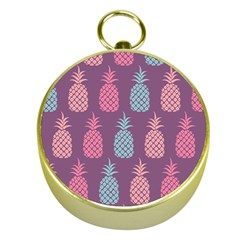 Pineapple Pattern Gold Compasses