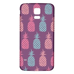 Pineapple Pattern Samsung Galaxy S5 Back Case (White)
