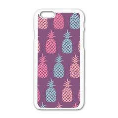 Pineapple Pattern Apple iPhone 6/6S White Enamel Case