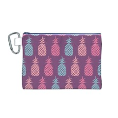 Pineapple Pattern Canvas Cosmetic Bag (M)